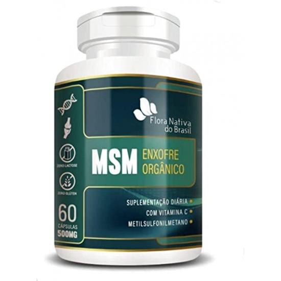 MSM Enxofre Orgânico 600mg c/60 cápsulas   Flora Nativa